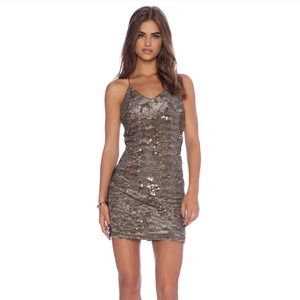 Anthropologie Greylin Alaia Sequin Bodycon Dress